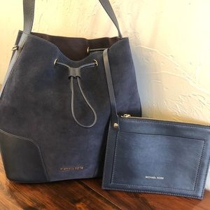Michael Kors suede and leather bag